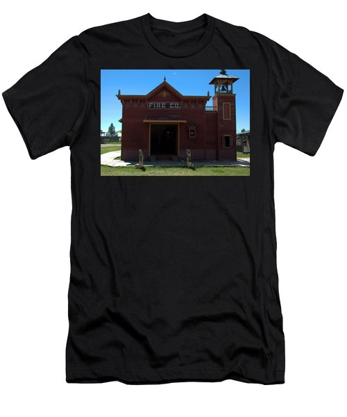 Old West Fire Station Men's T-Shirt (Athletic Fit)