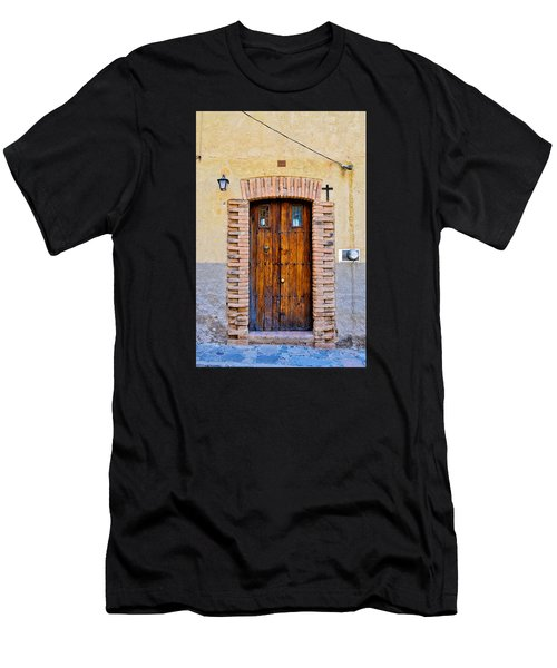 Old Wooden Door - Mexico - Photograph By David Perry Lawrence Men's T-Shirt (Athletic Fit)