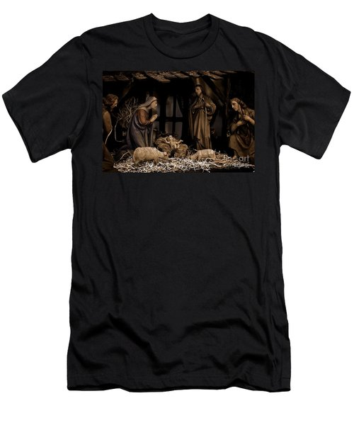 Olive Wood Nativity  Men's T-Shirt (Athletic Fit)