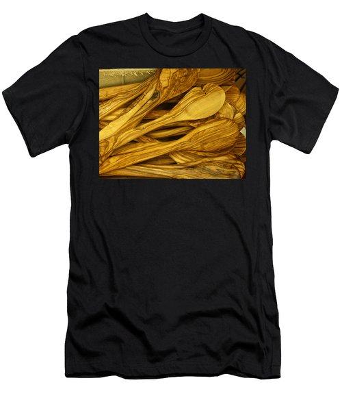 Olive Wood Men's T-Shirt (Athletic Fit)