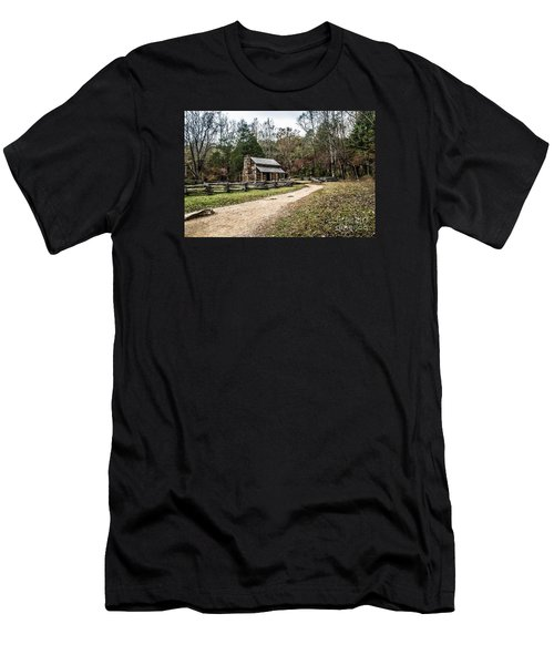 Men's T-Shirt (Slim Fit) featuring the photograph Oliver's Log Cabin by Debbie Green