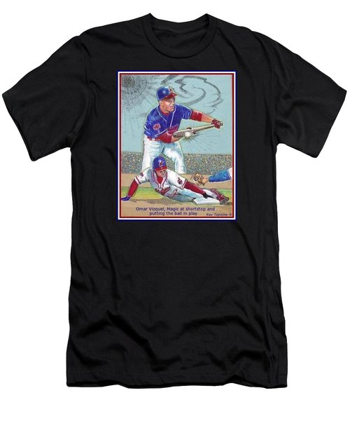 Omar Vizquel Shortstop Magic Men's T-Shirt (Athletic Fit)