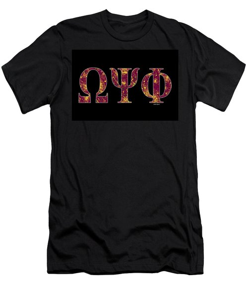 Omega Psi Phi - Black Men's T-Shirt (Slim Fit) by Stephen Younts