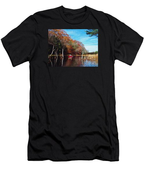 Men's T-Shirt (Slim Fit) featuring the photograph On Schoolhouse Pond Brook by Joy Nichols