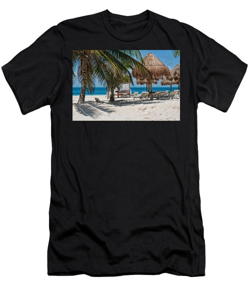 White Sandy Beach In Isla Mujeres Men's T-Shirt (Athletic Fit)
