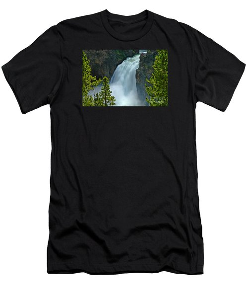 Men's T-Shirt (Slim Fit) featuring the photograph On The Edge by Nick  Boren