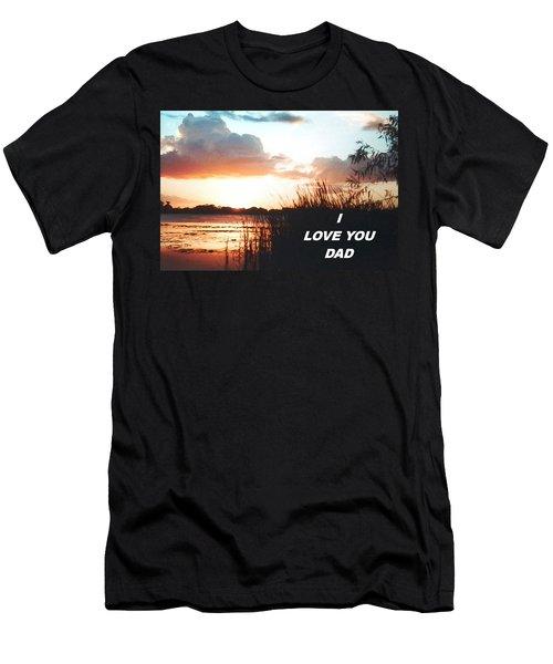 Lake Deer At Sunrise Men's T-Shirt (Slim Fit) by Belinda Lee