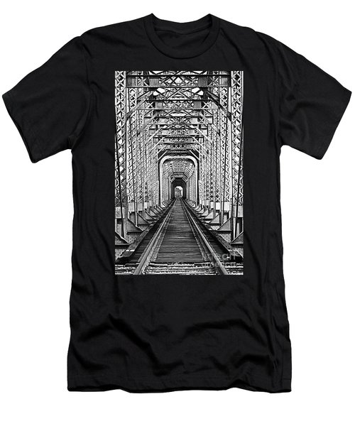 On The Right Track Men's T-Shirt (Slim Fit) by Barbara Chichester