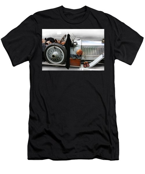 Men's T-Shirt (Slim Fit) featuring the photograph On The Road by Leena Pekkalainen