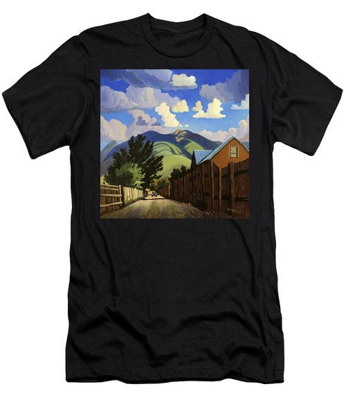 Men's T-Shirt (Slim Fit) featuring the painting On The Road To Lili's by Art James West
