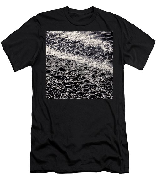 On The Rocks  French Beach Square Men's T-Shirt (Slim Fit) by Roxy Hurtubise