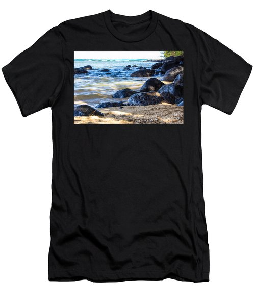 Men's T-Shirt (Slim Fit) featuring the photograph On The Rocks by Suzanne Luft