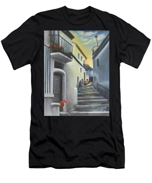 On The Way To Mamma's House In Castelluccio Italy Men's T-Shirt (Athletic Fit)