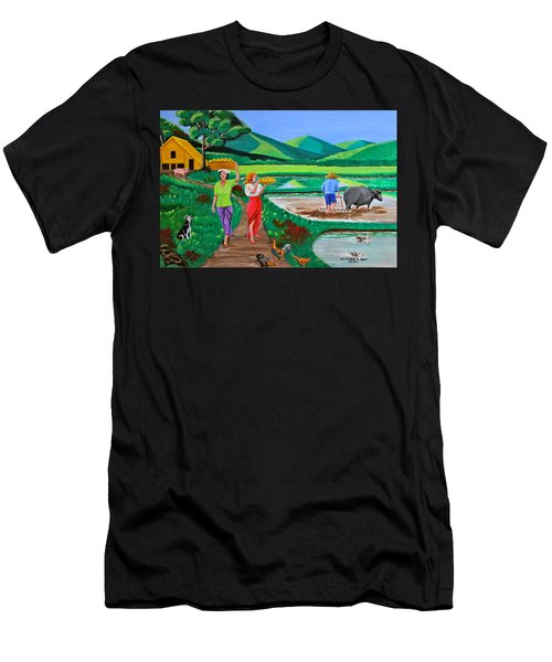 One Beautiful Morning In The Farm Men's T-Shirt (Athletic Fit)