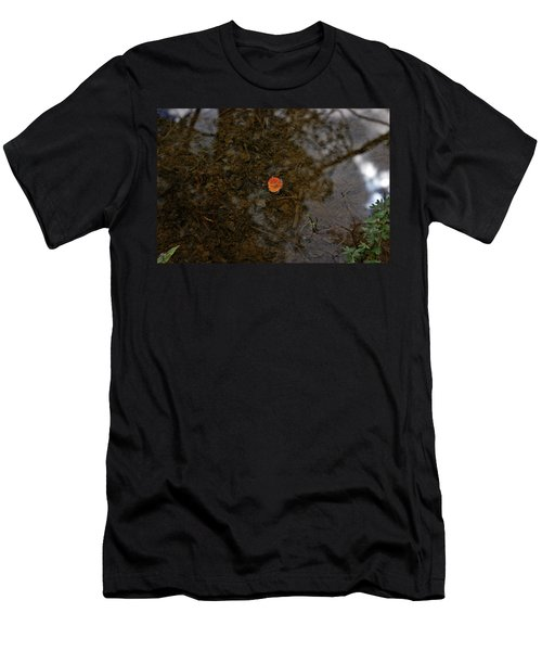 Men's T-Shirt (Slim Fit) featuring the photograph One Leaf by Jeremy Rhoades