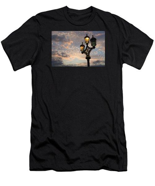 One Light Out - Westminster Bridge Streetlights - River Thames In London Uk Men's T-Shirt (Athletic Fit)