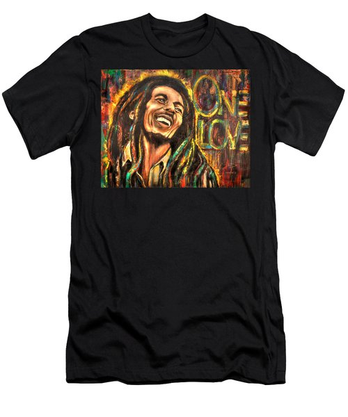 Bob Marley - One Love Men's T-Shirt (Athletic Fit)