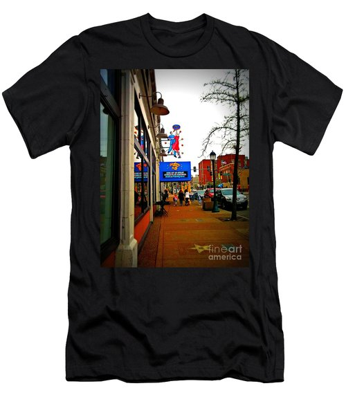 One Of Ten Great Streets Men's T-Shirt (Slim Fit) by Kelly Awad