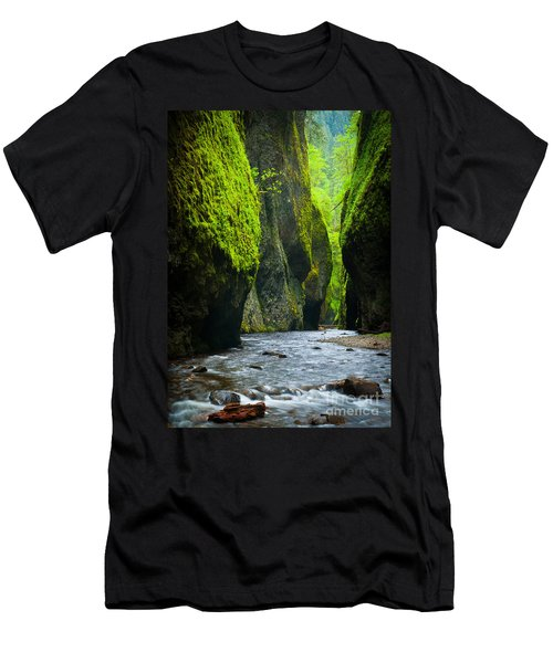Oneonta River Gorge Men's T-Shirt (Athletic Fit)
