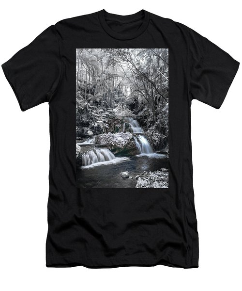Onomea Falls In Infrared 2 Men's T-Shirt (Athletic Fit)