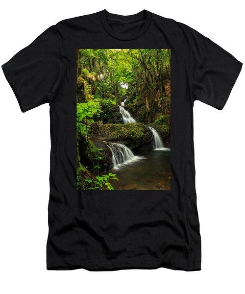 Onomea Falls Men's T-Shirt (Athletic Fit)