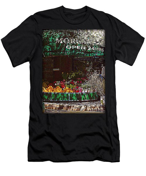Men's T-Shirt (Slim Fit) featuring the photograph Open 24 Hours by Miriam Danar