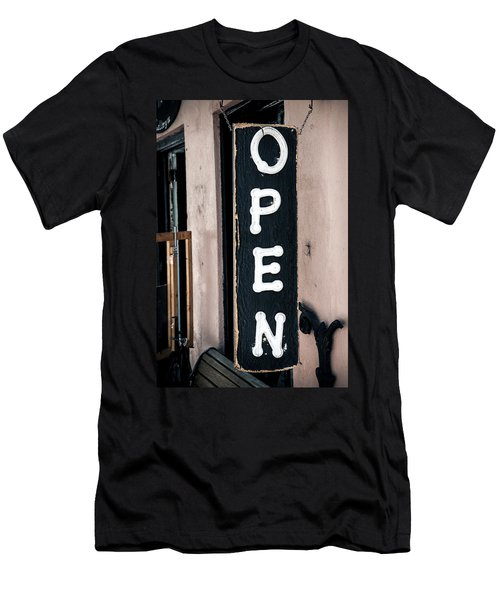 Men's T-Shirt (Slim Fit) featuring the photograph Open For Business by Sennie Pierson