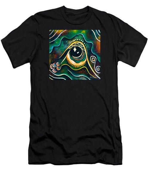 Men's T-Shirt (Slim Fit) featuring the painting Optimist Spirit Eye by Deborha Kerr