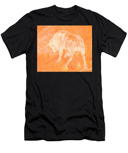 Orange Bull Negative Men's T-Shirt (Athletic Fit)