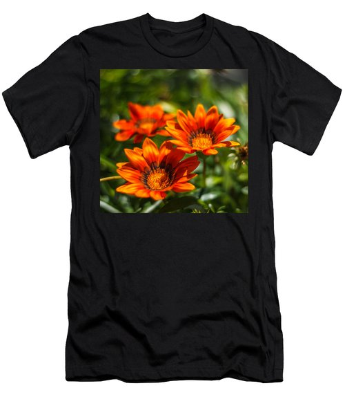 Men's T-Shirt (Slim Fit) featuring the photograph Orange Flowers by Jane Luxton