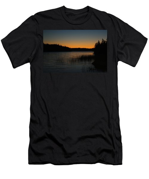 Men's T-Shirt (Slim Fit) featuring the pyrography Orange Glow by Jason Lees