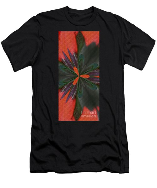 Orange Green And Purple Men's T-Shirt (Athletic Fit)
