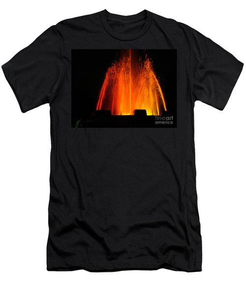 Men's T-Shirt (Athletic Fit) featuring the photograph Orange Lava by Clayton Bruster
