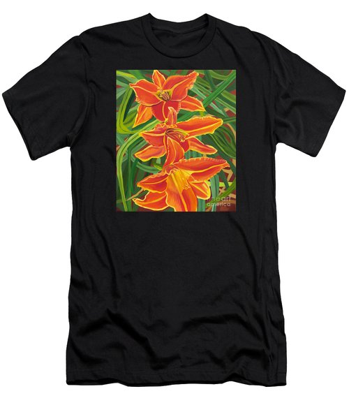 Orange Lilies Men's T-Shirt (Athletic Fit)