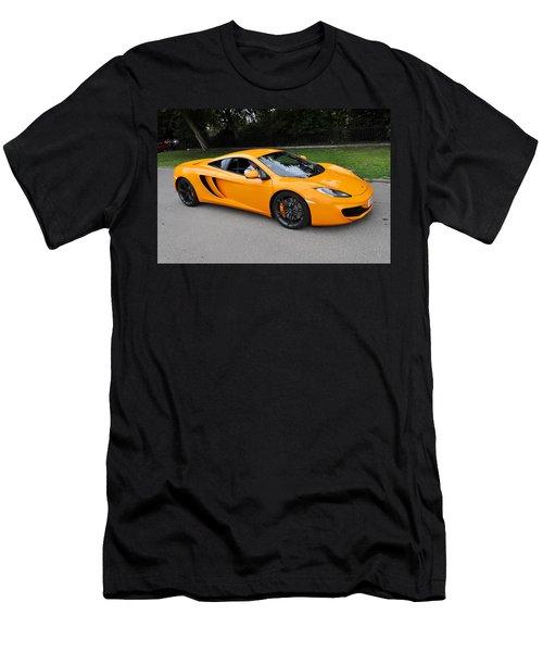 Orange Mclaren Mp4-12c Men's T-Shirt (Athletic Fit)