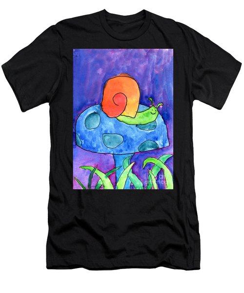 Orange Snail Men's T-Shirt (Athletic Fit)