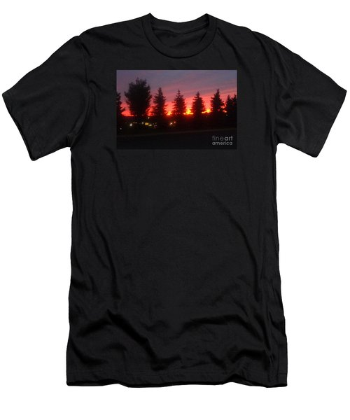 Men's T-Shirt (Slim Fit) featuring the photograph Orange Sunset by Christina Verdgeline