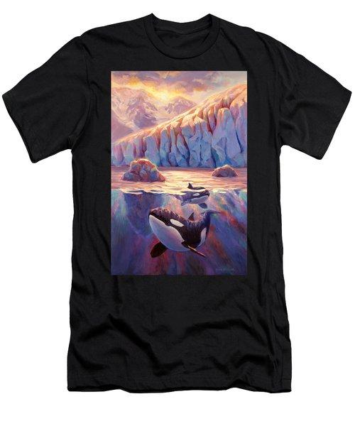 Orca Sunrise At The Glacier Men's T-Shirt (Athletic Fit)