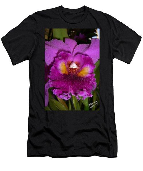 Orchid Flames Men's T-Shirt (Athletic Fit)