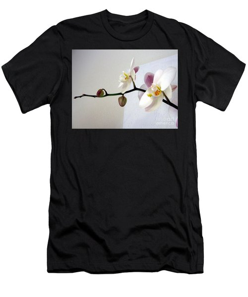 Orchid Coming Out Of Painting Men's T-Shirt (Athletic Fit)