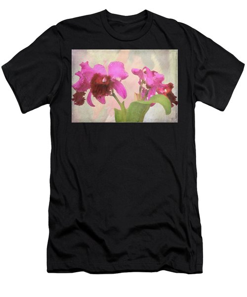 Orchid In Hot Pink Men's T-Shirt (Athletic Fit)