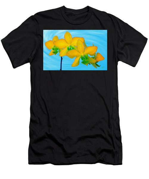 Orchid In Yellow Men's T-Shirt (Athletic Fit)