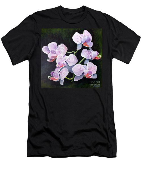 Orchids II Men's T-Shirt (Slim Fit) by Debbie Hart