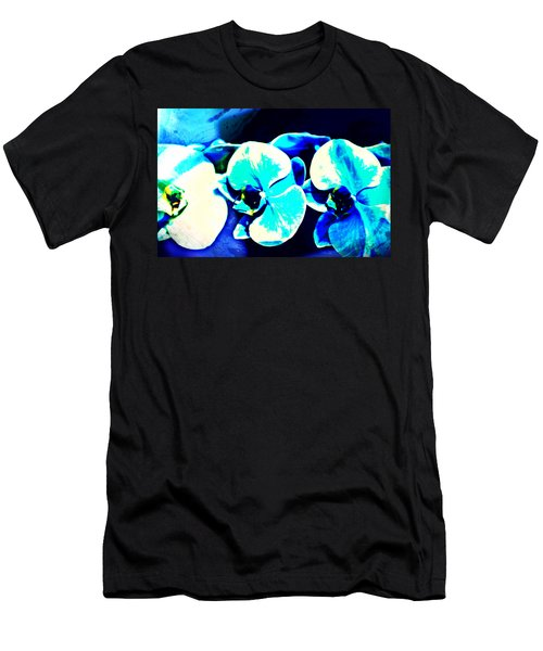 Men's T-Shirt (Athletic Fit) featuring the mixed media Orchids Of Ranetta by Michelle Dallocchio
