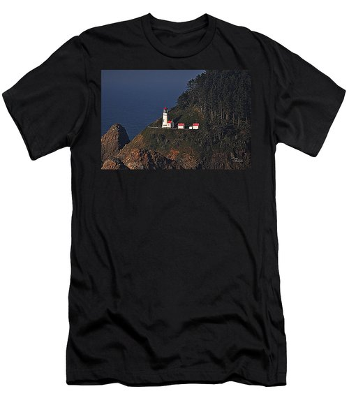 Oregon Lighthouse Men's T-Shirt (Athletic Fit)