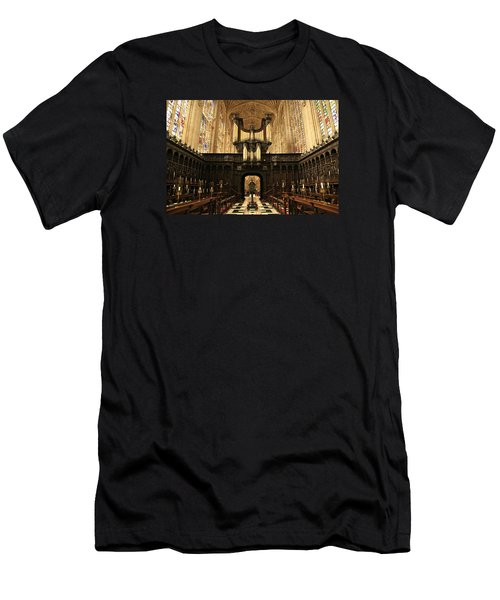 Organ And Choir - King's College Chapel Men's T-Shirt (Slim Fit) by Stephen Stookey