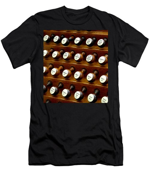 Organ Stop Knobs Men's T-Shirt (Athletic Fit)