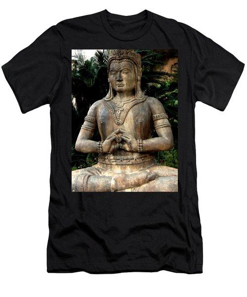 Oriental Statue Men's T-Shirt (Slim Fit)