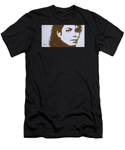 original black an white acrylic paint art- portrait of Michael Jackson#16-2-4-12 Men's T-Shirt (Athletic Fit)
