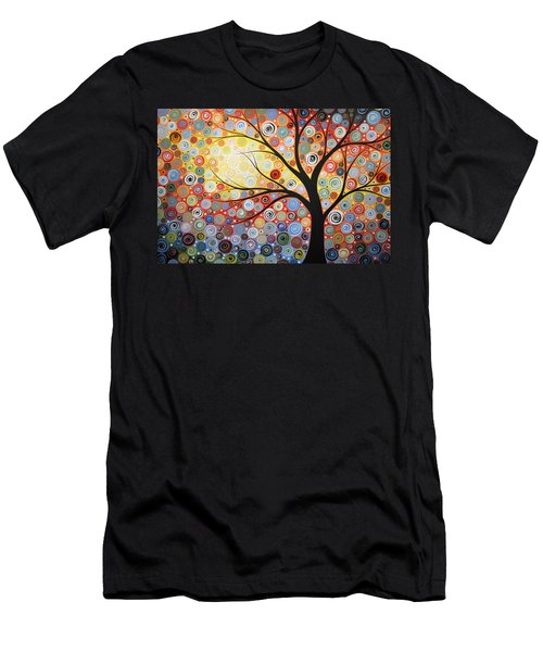 Original Painting Print Titled Celestial Sunset Men's T-Shirt (Slim Fit) by Amy Giacomelli